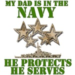 Navy Dad Protects And Serves