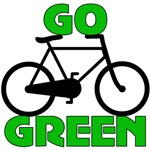 Go Green Bicycle Ecology T-Shirts & Gifts