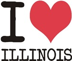 I Love Illinois States of USA products & designs!