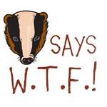 HONEY BADGER SAYS W.T.F.!