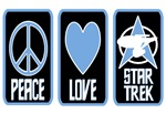 PEACE LOVE STAR TREK