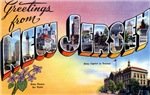 Greetings from New Jersey T-shirt Tshirts & Gifts
