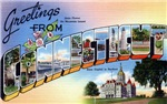 Greetings from Connecticut T-shirt Tshirts & Gifts