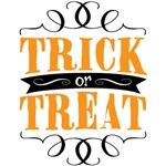 Trick or Treat - elegant orange