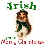 Irish Sheltie Christmas