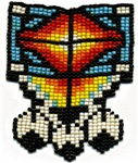 Beaded Tribal Badge