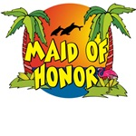 Maid of Honor Beach T-Shirts