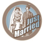 Vintage Just Married T-Shirts