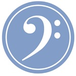 Blue Bass Clef