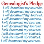 Genealogist's Pledge T-Shirts and Mugs