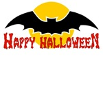 Big Bat Happy Halloween T-Shirts