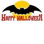 Big Bat Happy Halloween T-Shirts
