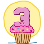 3rd Birthday Cupcake T-Shirts