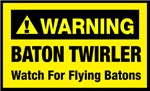 WARNING Baton Twirler - Yellow