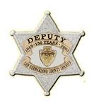San Bernardino Sheriff Anniversary Badge