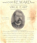 Virgil Earp $500 Reward