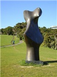 Bronze form by Henry Moore