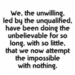 We the unwilling