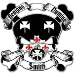 Smith Family Crest Skull