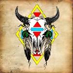 Tribal Cow Skull