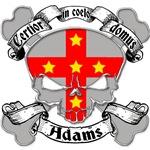 Adams Family Crest Skull
