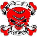 Armstrong Family Crest Skull