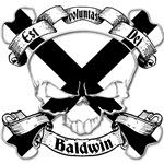 Baldwin Family Crest Skull