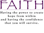 FAITH!  Shirts & Bags