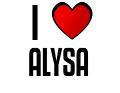 I LOVE ALYSA
