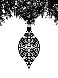 Gothic Pattern Holiday Ornament