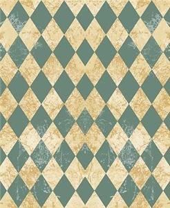Vintage Blue Diamond Pattern