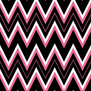 Gothic Pink Chevron