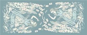 Vintage Alice Flying Cards Blue