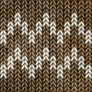 Brown Knit Graphic