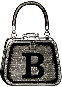 Monogram Vintage Purse Graphic