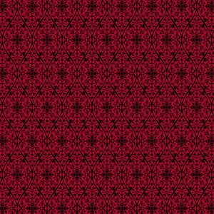 Ornate Red Gothic Pattern Small