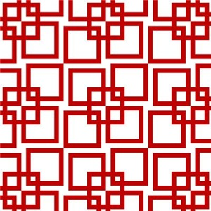 Wobble Lattice Pattern Red/White