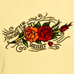 Rose of Heart Tattoo T-shirts