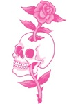 Pink Rose Skull Tattoo Art T-shirts