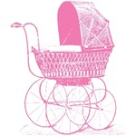 Pink Baby Carriage T-shirts