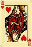 Card Queen of Hearts T-shirts