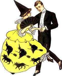 Vintage Halloween Dancers