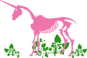 Pink Unicorn Skeleton