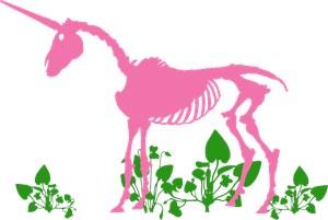 Pink Unicorn Skeleton