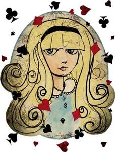 Watercolor Alice Dark