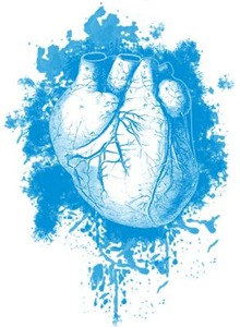 Blue Grungy Heart