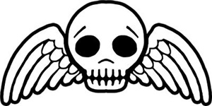 Cute Winged Skull