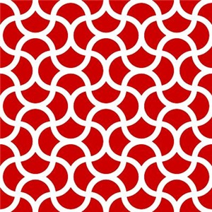 Wavy Scale Pattern Red
