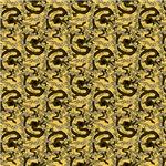 Chinese Dragon Pattern Gold Black
