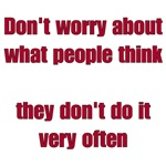 People Don't Think